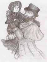 Valjean with Cosette by ReveveR