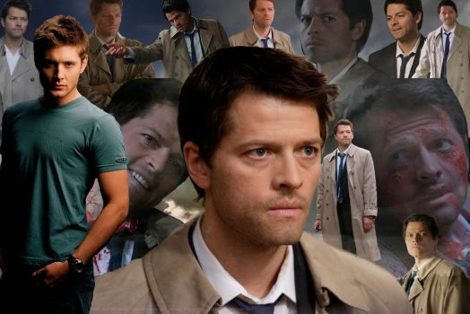 Castiel and Dean by glowingmystery
