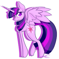 Alicorn twilight again by Xxcron