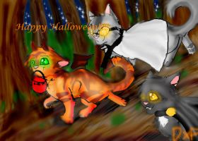 Warrior Cats Halloween by DovexFeather