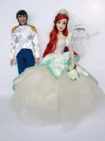 Disney Ariel and Eric Doll Repaints by claude-on-the-road