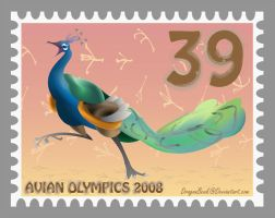 Avian Olympics Stamp by DragonBeak