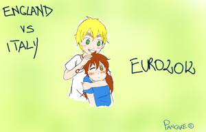 Italy vs England by Pancake9Andy