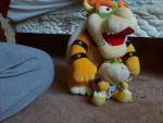 My Bowser and Bowser Jr. Plushies Together by PokeLoveroftheWorld
