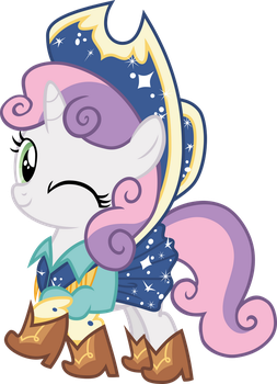 Sweetie Belle ready for hoedown by Pilot231