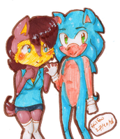 Sonic And Sally by HollyBjeam