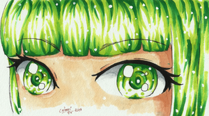 green eyes by crinuyi