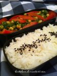 chickpea and tomato salad bento by BentoLove
