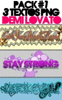 Textos PNG Demi Lovato by LockerLovatoEditions