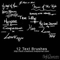 Photoshop Text Brushes by mriley