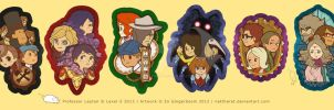 Professor Layton 1-6 charms by nattherat
