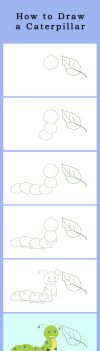 How to draw a Caterpillar by MsArtGarden