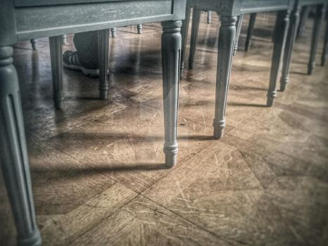 Wood floor and chairs by longwalkhome