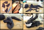 Deathwing plushie WIP by Dragons-Garden