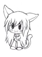 Neko Chibi Girl by gummigator