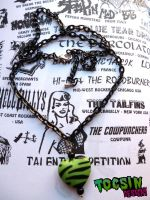 ZEBRA HEART NECKLACE by TocsinDesigns