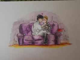Sherlock watercolor - suddenly by Ad1er