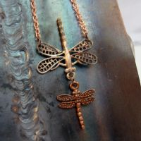 Steampunk-Y Firefly necklace by sybaritic