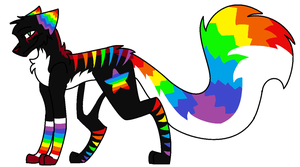 Rainbow Fox/Wolf Auction OVER by ForestAntlers