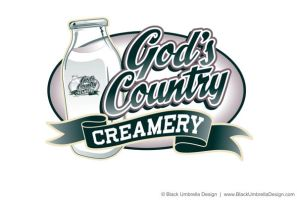 God's Country Creamery Logo by MWorrell