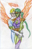 Johnny and Lyja by theaven