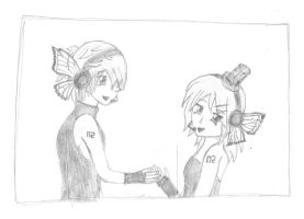Kagamine Len and Rin by KohiChudoku