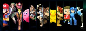 smash bros. characters (incomplete) by RobertoAGM