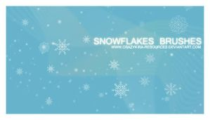 Snowflakes Brushes by *crazykira-resources
