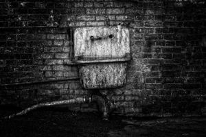 Industrial Sink B And W by UrbanRural-Photo