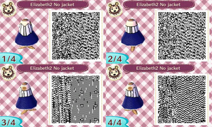 Animal Crossing QR Code Elizabeth 2 without jacket by TeaganLouise