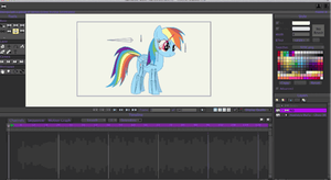 Rainbow Dash Puppet Tester (gif) by MerlinkPa