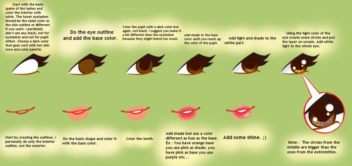 How To : Eyes + Lips by AstralBlu