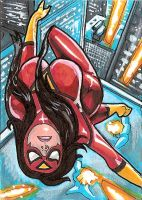 Spider Woman Sketch Card by Sigint