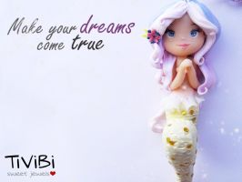Make Your Dreams Come True | Mermaid polymer clay by tivibi