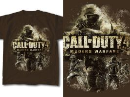T-Shirt Design Call of Duty 02 by RobDuenas