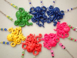 Octo necklaces by pookat