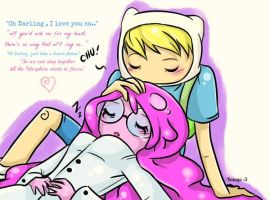 PB and Finn - Oh Darling , I Love You so by Kasugaxoxo