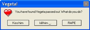 Vegeta error message :D by iToxicTea