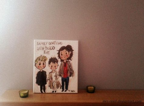 Dean, Cas and Sammy by Mrs-Reed