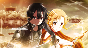 Sword Art Online - Kirito and Asuna by Daxter1997