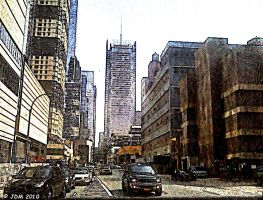 Pencil photo edit of New York. by JDM4CHRIST