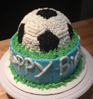 Soccer Cake by Crosseyed-Cupcake