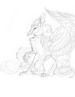 Gryphon Lineart by XRosewaterX