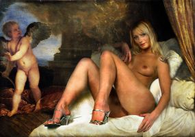 Danae Gold Rain by Dave Hammond and Tiziano by FueledbypartII