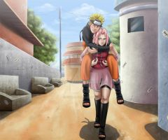 Commis: Naruto and Sakura by Arya-Aiedail