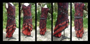 commissioned flapper dress by InnocentDevilDesigns