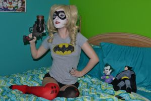 Harley Quinn: Pajamas and Popguns by HarleyTheSirenxoxo