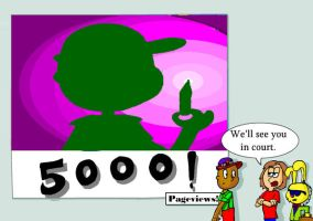 Thanks for 5000 pageviews by TaRtOoN-Man94