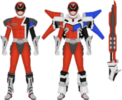 Power Rangers S.P.D./Dekaranger Battlizer by Taiko554