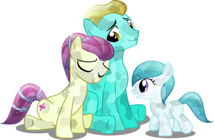 Crystal pony family by Vector-Brony